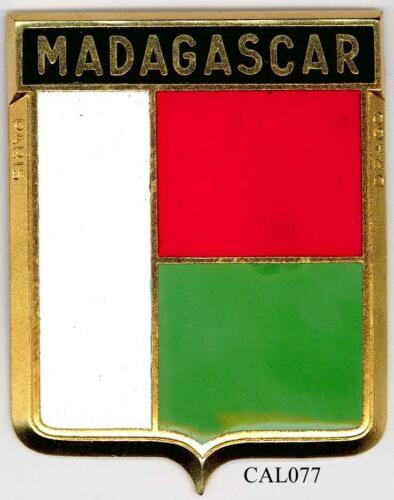 CAL077 MADAGASCAR PLAQUE DE CALANDRE AUTO