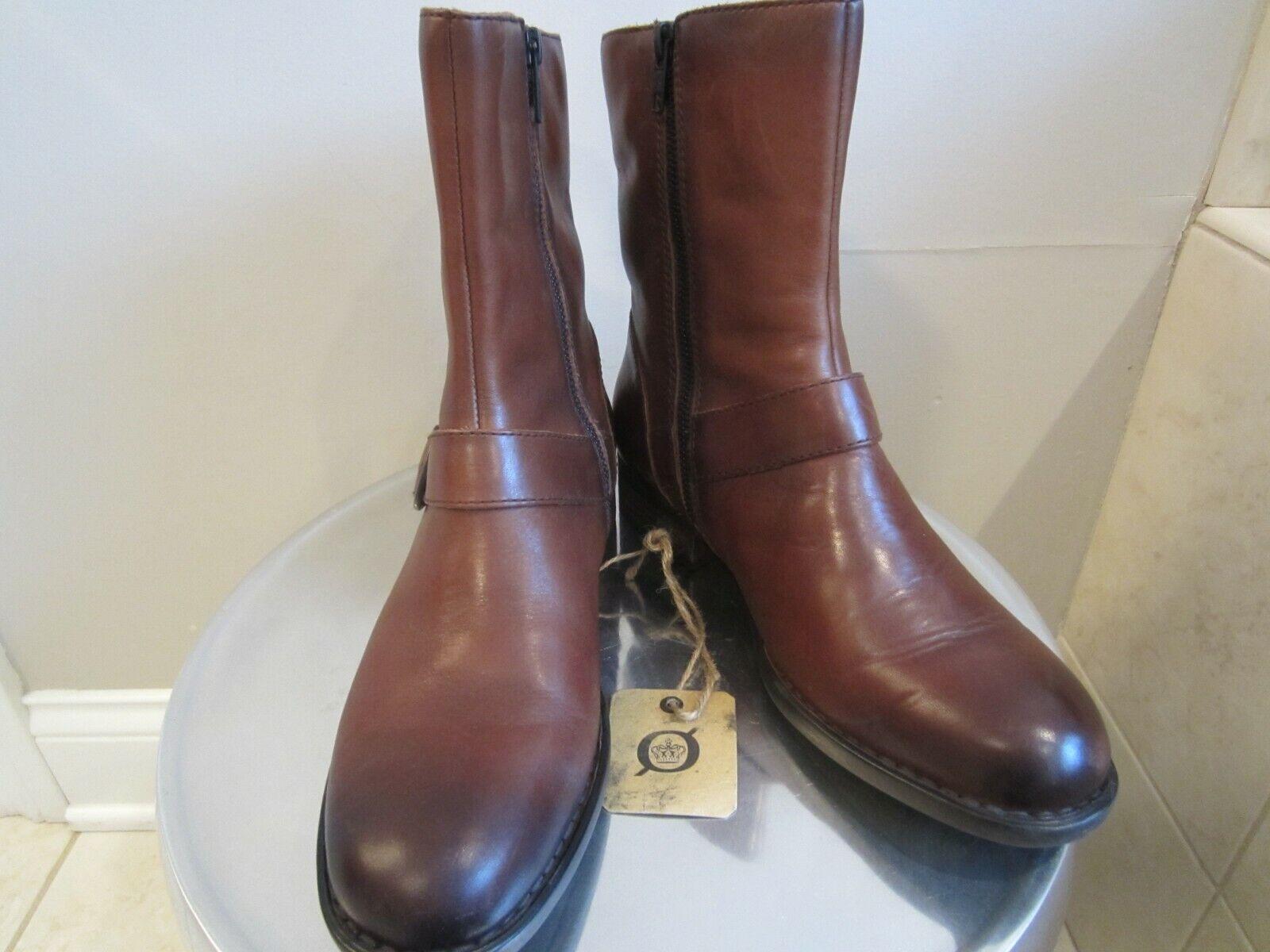 BØRN Women's Sz. 8M ROA Moto Booties Cognac Leather