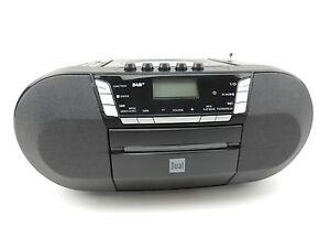Dual-DAB-P-200-AUX-CD-Radio-DAB-Digitalradio-UKW-Kassettendeck-USB-schwarz-AUX