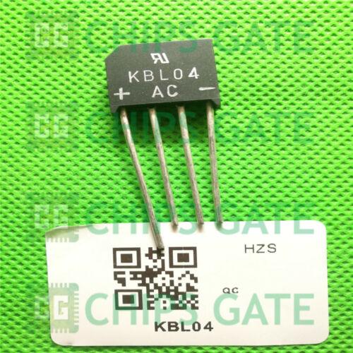 8PCS KBL04 IC BRIDGE RECT 4A 400V KBL Fairchild
