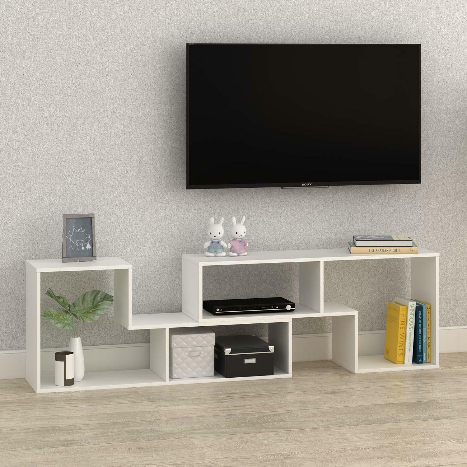 Modern  TV Stand Entertainment Center Media Stand Unit  Bookcase Weiß