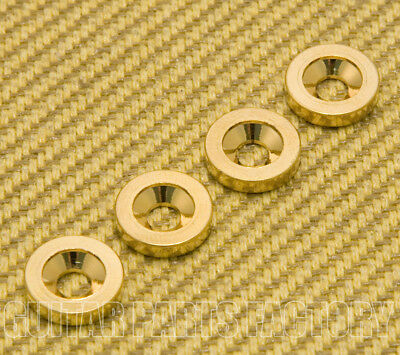 GOLD #2031 Standard 4 Bolt Engraved Guitar Neck Joint Heel Plate