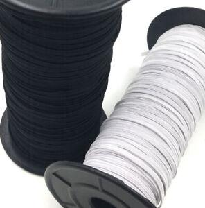 UNI-TRIM Premium Braided Elastic 6mm BLACK Per 10 Metres Quaility Brand