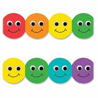 Hygloss Smiley Face Design Border Strips - 12 Smiley Face - Long Lasting,