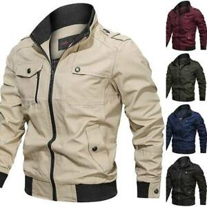 Details about Mens MA 1 Pilot Bomber Jacket Coats Air Force Military Army Combat Flight Jacket