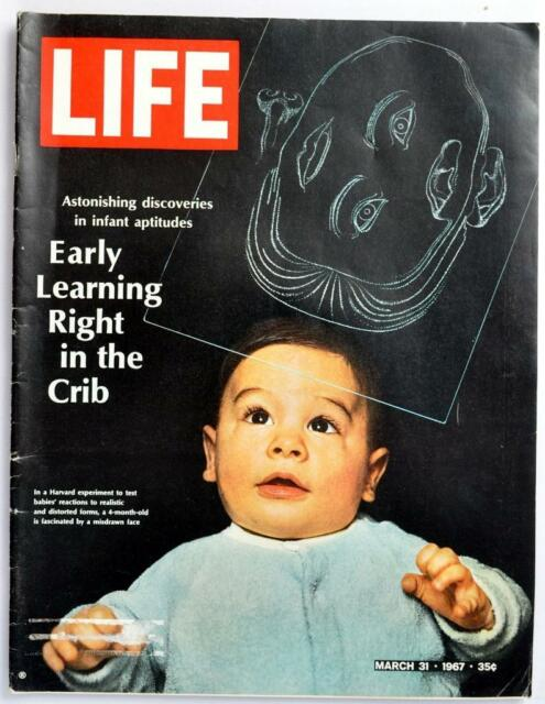 Vintage Life Magazine 1967 March 31 Mickey Mantle early learning flag