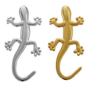 1X-2-pieces-3D-Gecko-Shape-Chrome-Badge-Emblem-Decal-Car-Sticker-X4Q4
