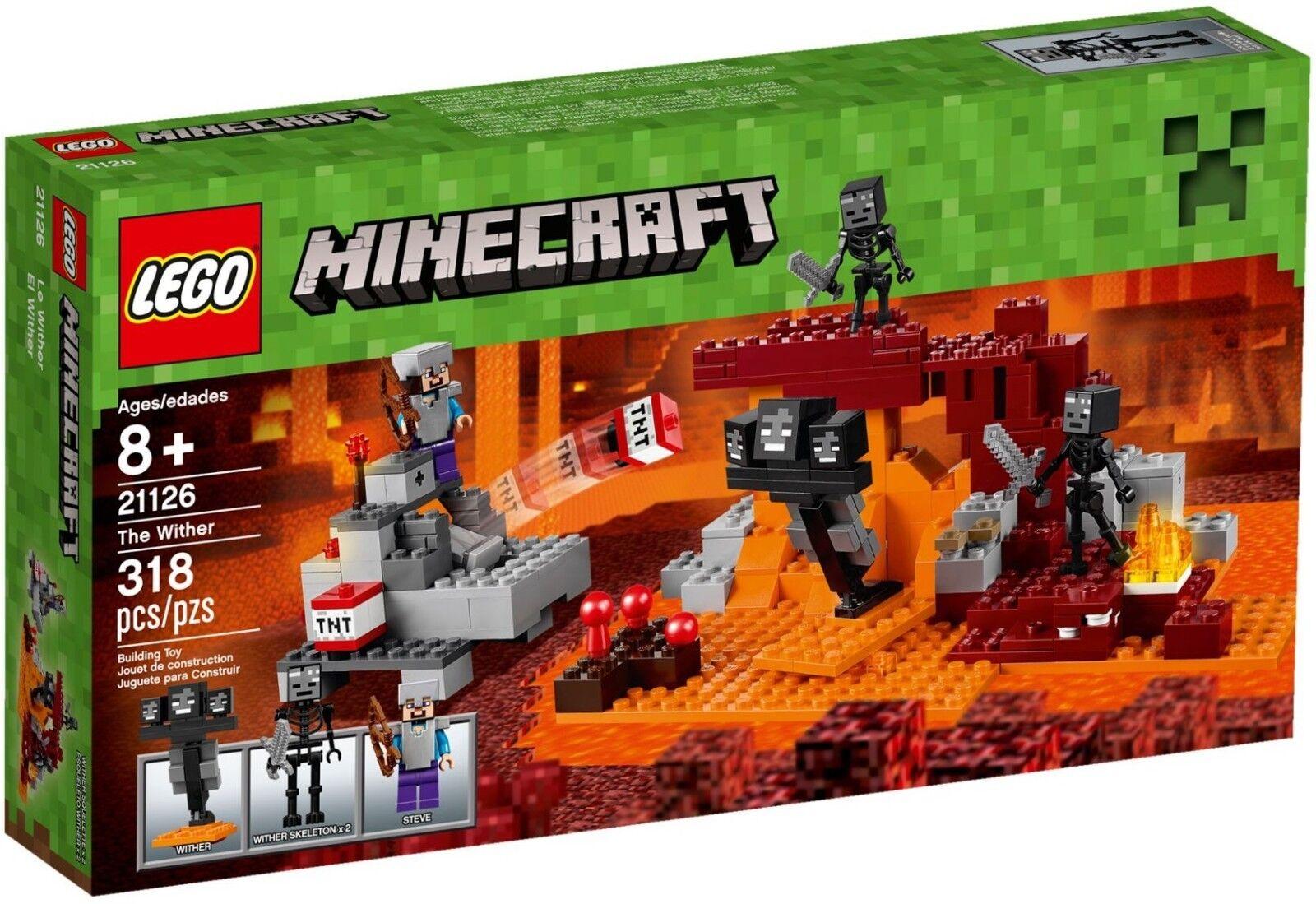 LEGO BNIB Minecraft 21126 the Wither molten Steve Skeleton minifigure