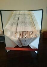 Book folding Freddie Mercury Queen logo , Great music or Queen fan gift