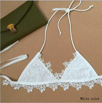 Handmade Boho Bohemian Grecian String Triangle Crochet Cotton Bikini Top Hippy