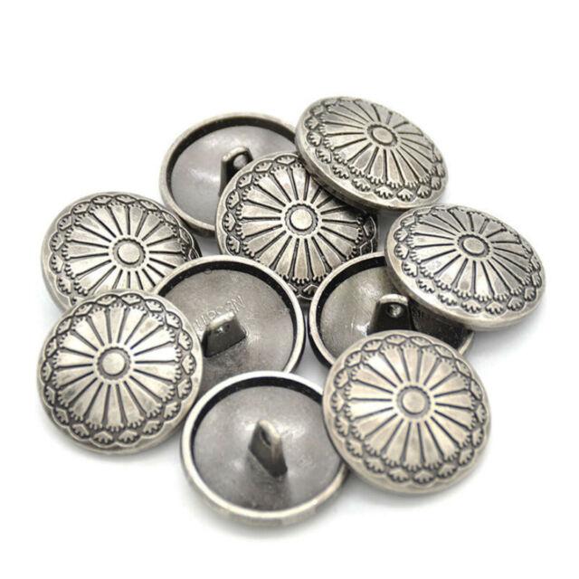 20pcs Retro Metal Shank Buttons Suit Coat Buttons Decorative Fastener for Suits Blazers Gold 15mm
