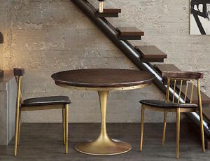 Image Is Loading Mid Century Modern Brass Tulip Dining Game Table