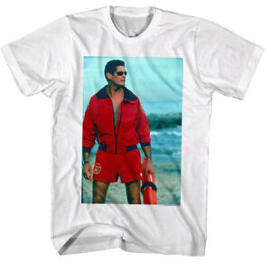 d6ce200ba3 Details about Baywatch David Hasselhoff Mitch Buchannon Men's T Shirt TV LA  Beach Lifeguard