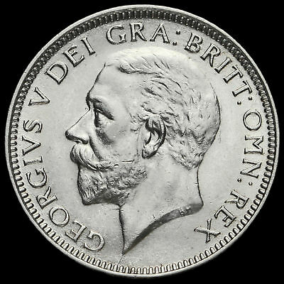 1926 George V Silver Shilling, Third Coinage, Scarce, G/EF