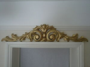 Image Is Loading One Used Large Over Door Pediment Gold In