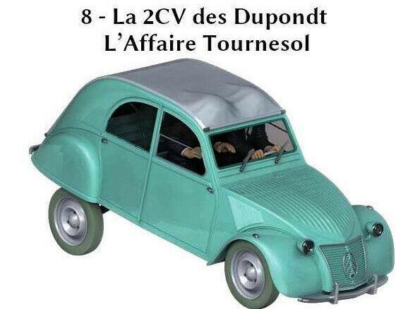 Coche 2CV des Dupondt 1 24 Nuevo En Caja Modelo Diecast Miniatura De Colección
