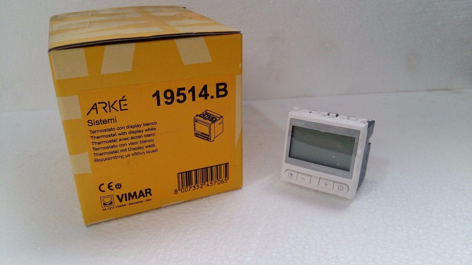 VIMAR 19514.B Thermostat Thermostat Thermostat Arke weiß Flush mount display Home-Automation von-mir 6ab9e2