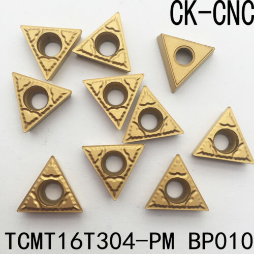 10pcs TCMT16T304-PM BP010 alloy carbide inserts triangle cutting tool inserts
