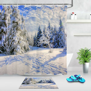 Image Is Loading 72 034 Polyester Winter Snow Scene Forest Path