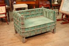 Divano indiano mobile cassapanca orientale in legno laccato stile antico 900 XX
