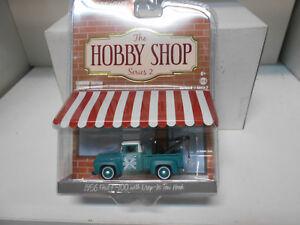 FORD-F-100-GRUA-W-TOW-HOOK-1956-AUTO-REPAIR-HOBBY-SHOP-S2-GREENLIGHT-1-64