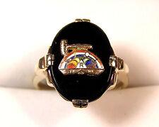 Vintage 10K Gold International Order of the Rainbow Girls Masonic Club Ring