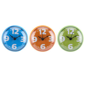 Shower Bathroom Kitchen Silicone Clock Waterproof Colorful Home Decoration