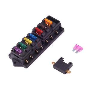 universal 8 way circuit standard blade fuse box holder block car rh ebay com universal fuse box with relay universal fuse box advance auto