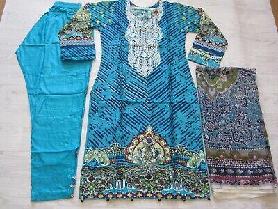 designer Linen Suit Embroidered stitched Pakistani Indian salwar kameez 2019