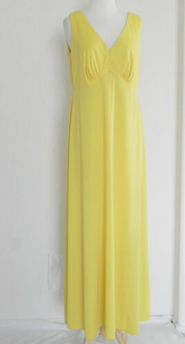 5525e8fd6f3 3 of 9 Vtg Lane Bryant 2 Pc Set Tunic top Dress Chiffon Top  Maxi Dress  Yellow