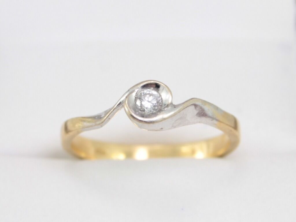 Diamond Engagement Ring 18ct gold Ladies Solitaire Ideal Gift Size P J7