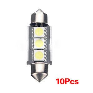 10X-36mm-CANBUS-3-LED-5050-SMD-6418-C5W-Licence-Plaque-ampoule-du-plafonnier-WT