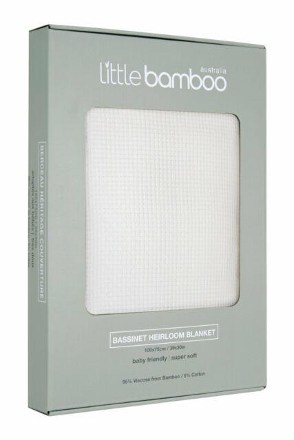 Little Bamboo Heirloom Blanket - Bassinet 100 cm x 75 cm