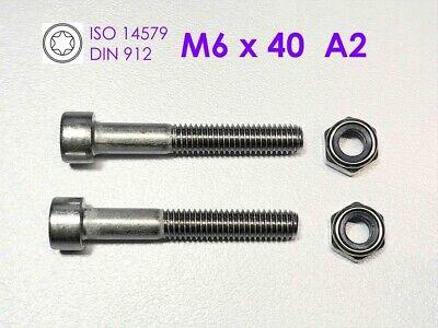10 Stück Schraube DIN 912 M6x20 Edelstahl A2  Innen Torx