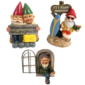 Garden Gnome Home Decor Ornament Dwarf Funny Lawn Fun Decorations Figurine New