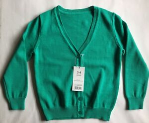 Details about Girls Light Green Cardigan sizes 3 years through to 12 years
