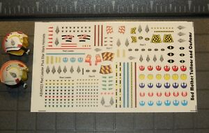 1//18 Scale Custom Tattoos Star Wars Batman Variety Pack Waterslide Decals