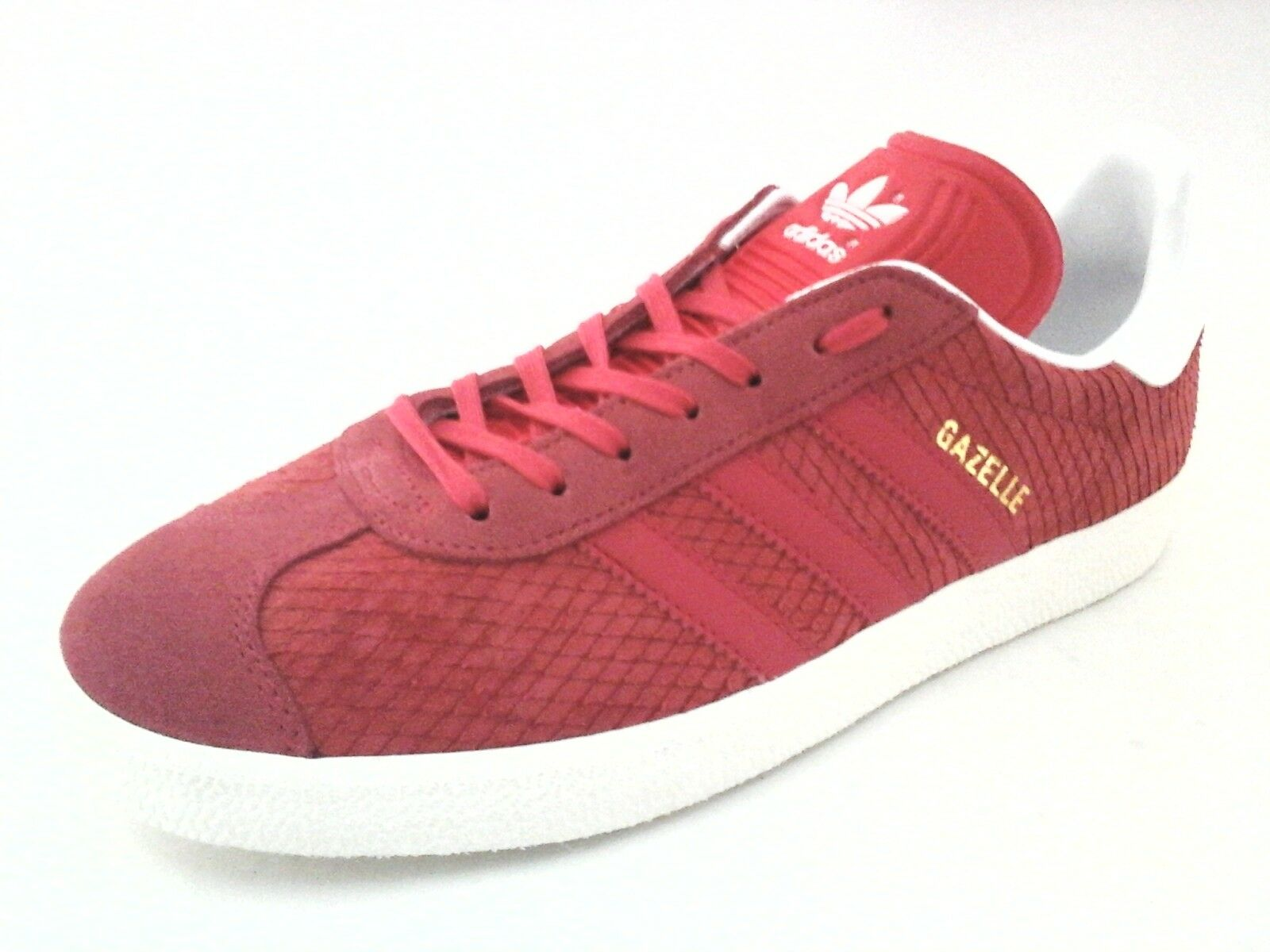 Adidas BB5174 Gazelle Women's Reptile Suede shoes Sneakers Coral US 9 EU 41 1 3