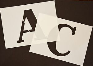 BIG ALPHABET COMPLETE SET OF STENCIL LETTERS AND NUMBERS 140mm HIGH (5 1/2inch)