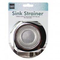 1pc Universal Stainless Steel Kitchen Sink Strainer Large Wide Rim 4.5 Diameter