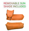 thumbnail 34 - Inflatable Air Lounge Air Sofa Portable With Removable Sun Shade - Waterproof