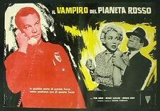 CINEMA-fotobusta IL VAMPIRO DEL PIANETA ROSSO p. birch