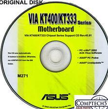 ASUS GENUINE VINTAGE ORIGINAL DISK FOR A7V333-X Motherboard Drivers Disk M271