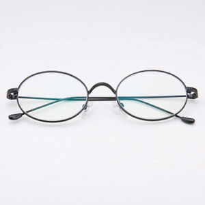 f85fe8d1fc21 Vintage Oval Eyeglass Frames Full Rim Man Women Glasses Eyewear Rx ...