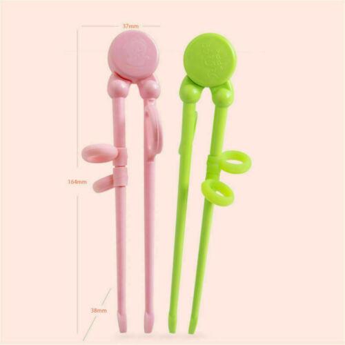 Pink Training Chopsticks Beginner Learning Helper for Kids Adult Plastics Gifts