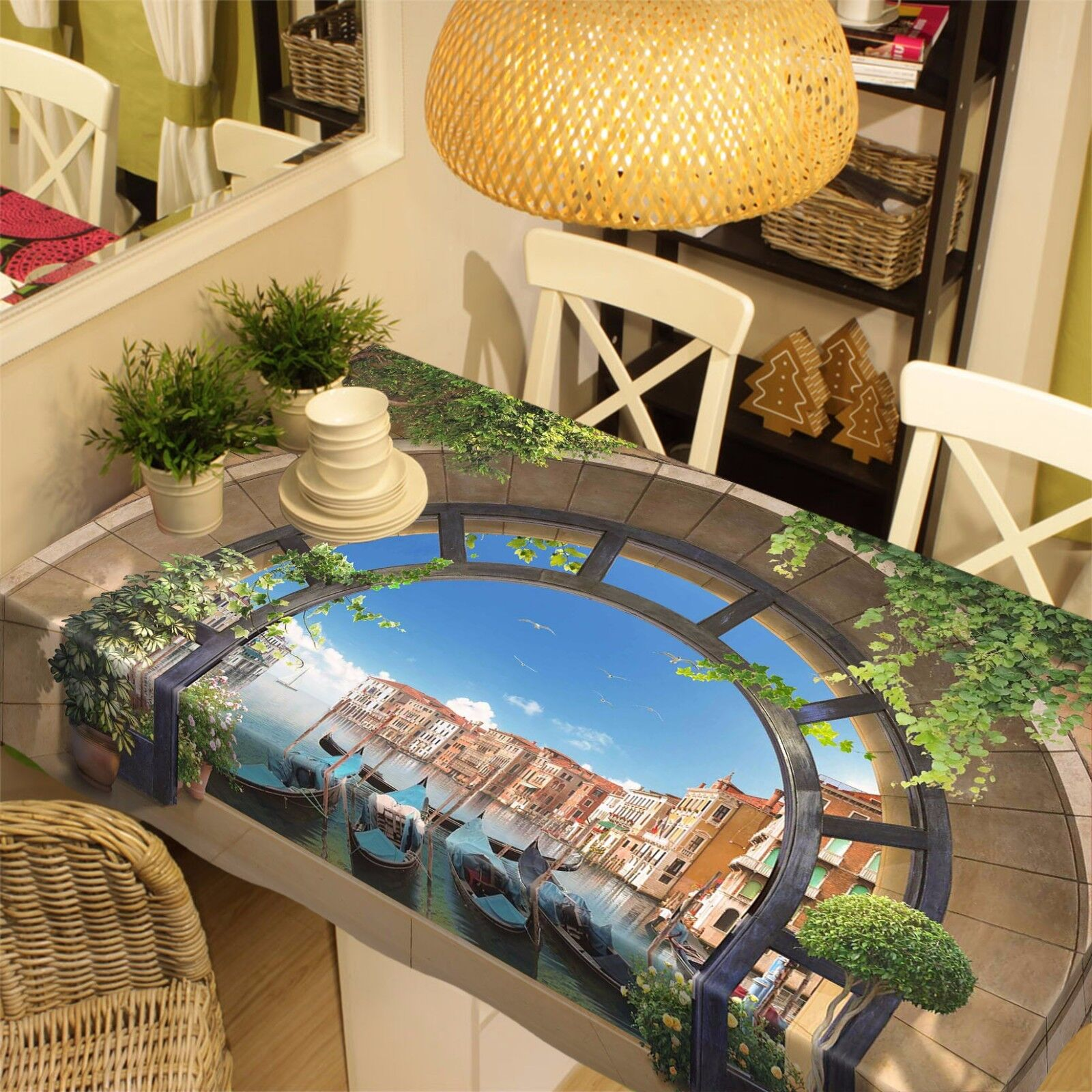 3D 3D 3D Venice Arches Tablecloth Table Cover Cloth Birthday Party Event AJ WALLPAPER 081189
