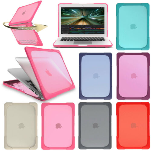 "Slim Clear Heavy Duty Shockproof Hard Case Cover For Macbook Retina 12/"" 13/"" 15/"""