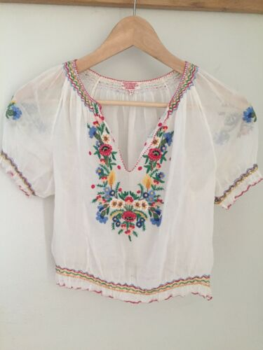 Vintage 1930s 1940s Original Hungarian Hand Embroi