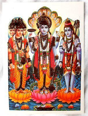 60a BILD NARMADA Krokodil Hinduismus Prägedruck INDIEN Altarbild Vorlage Tattoo