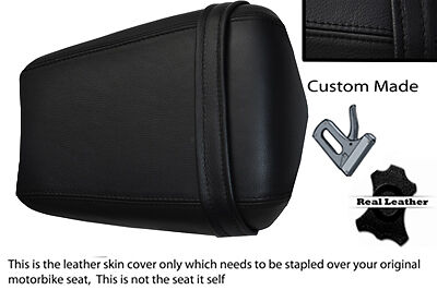 BLACK CUS 0203 FITS YAMAHA 1000 YZF R1 REAR ION LEATHER SEAT COVER
